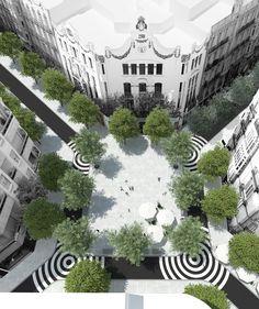 Una oportunidad para recuperar el espacio peatonal: contrapropuesta para renovación del centro de Valencia,© EFG arquitectura
