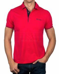 Polos Hugo Boss - Paule MK - Bright Pink Camisa Polo, Mens Polo T Shirts, Golf Shirts, Athleisure, Hugo Boss, Paul Shark, Moda Casual, Golf Outfit, Bright Pink