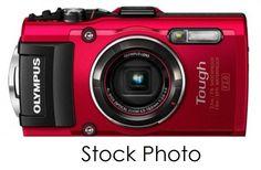Olympus TG-4 16MP Waterproof Digital Camera w/3-Inch LCD Screen  Red