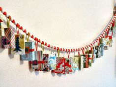 Kadootjes slinger met Sinterklaas - Advent Calendar Garland Made With Match Boxes