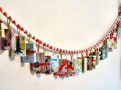 Kadootjes slinger met Sinterklaas - Advent Calendar Garland Made With Match Boxes