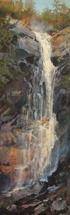 Skyfall by Linda Wilder was awarded Outstanding Acrylic in the May 2014 BoldBrush Painting Competition. Abstract Landscape, Landscape Paintings, Abstract Art, Waterfall Paintings, Painting Competition, Art Abstrait, Beautiful Artwork, Art Oil, Painting Inspiration