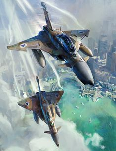Concept fighter planes by our good friend John Wallin Liberto. Keywords: hd high definition digital sci-fi science fiction sukhoi su-30mk...