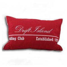 ACHICA | Newport Beach Collection Drift Island 40x60cm Cushion, Bordeaux