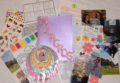 Milagros (7) June 2015         *cut pocket folder to correct size *letter theme: US schools; geographic location of where we live; seasons; future job plan *items sent: stickers, photos, paint with water page, how to draw page (placed in cellophane party bag), seasons photos, map with line between our location and her location