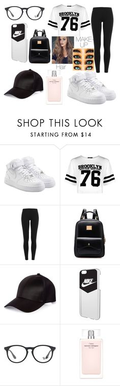 """School w/ Style"" by haileywilkins1 ❤ liked on Polyvore featuring NIKE, Boohoo, Polo Ralph Lauren, River Island, Ray-Ban and Narciso Rodriguez"