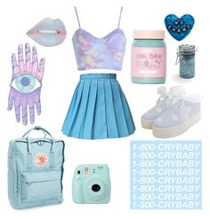 """Iridescent"" by dreamingqueen on Polyvore featuring Fjällräven, Fujifilm, GET LOST, Major Moonshine, Sourpuss and Lime Crime"