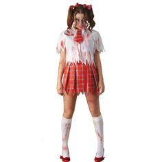 Kids zombie cheerleader costume child halloween costumes at disfraz de colegiala zombi solutioingenieria Gallery