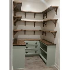 "164 Likes, 38 Comments - Personal Pride Construction (@personalprideconstruction) on Instagram: ""Dream pantry is complete! Walls shiplap and painted @sherwinwilliams White Dove. Cabniets are…"""