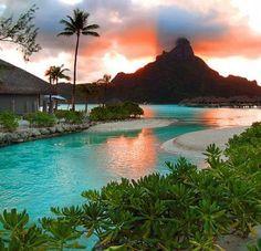 Bora Bora, French Polynesia - no 1 om my list of Dream destinations! Bora Bora, Tahiti, Vacation Places, Vacation Destinations, Dream Vacations, Vacation Spots, Places To Travel, Romantic Vacations, Italy Vacation