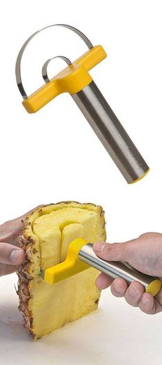 This pin I chose because I thought it was a pretty neat way of pitting the pineapple which is easy and quite fast for inexperienced beginner cooks.