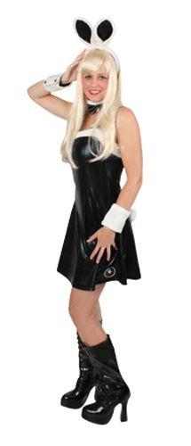Verkleedkleding Bunny pakje  Sexy bunny jurkje zwart voor dames. Dit sexy zwarte bunny jurkje is gemaakt van zwarte glimmende stof en is compleet met diadeem met oren manchetten en een halsbedekking. Dit sexy bunny jurkje is in verschillende maten.  EUR 26.96  Meer informatie
