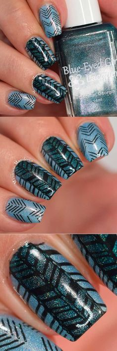 Chevron Nail Art Ideas - Chevron Impressions Nail Art - Best Chevron Nail Art Designs and Ideas On Pinterest, Chevron Nail Designs Step By Step, Chevron French Nails, Gel Nails, Chevron Tutorial For Toes, DIY Nailart For French Tips, Designs For Manicures, Negative Space Uses, and How To Do Chevron Polka Dots. Simple, Awesome, and Gorgeous Chevron Nail Art Ideas You Will Love With Amazing Colors Like Coral, Silver, And Grey. Try Chevon With Stripes For A Fun Look On Valentines Day Or For…
