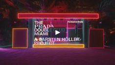 """Artist Carsten Höller talks about """"The Prada Double Club Miami"""" and about the process that led him develop the project. Exhibition Booth Design, Exhibition Display, Exhibition Space, Exhibition Stands, Exhibit Design, Stage Design, Event Design, Pub Design, Led Neon"""