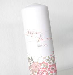 Hochzeitskerze+-+Blumenbanderole+-+Neu+ohne+Folie+von+Kreative+Papeterie+für+Hochzeit,+Geburt+und+Geburtstag!+auf+DaWanda.com