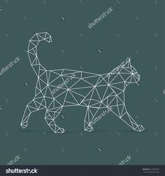 cat tattoo geometric - Google-søgning