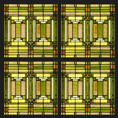 This Frank Lloyd Wright gift set of coasters was adapted from Wright's famous skylight from his Oak Park Studio.