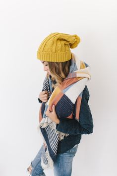Oh how we love mustard yellow! The Lizzy has a little extra room that offers a little more sag. It's a beautiful color for a beautiful hat.