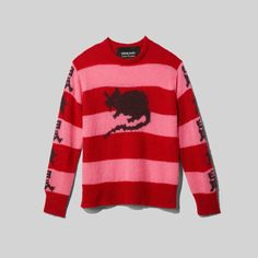 Our classic oversized wool grunge sweater featuring the Stray Rats logo. Shop The Marc Jacobs Stray Rats x Marc Jacobs The Grunge Sweater. Red Sweaters, Sweaters For Women, Sweater Sale, Mohair Sweater, Retro Outfits, Rats, Urban Fashion, Marc Jacobs, Grunge