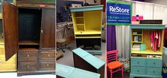 Laundry cabinet DIY upcycle: before, during and after photos