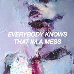 mess, art, and quote image