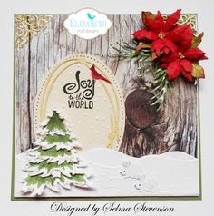 Another gorgeous winter project from Selma Stevenson on the blog our morning: http://wp.me/p4kQzc-5dx. Visit the full post for step-by-step instructions, photos, and supplies! Shop the supplies on our online store: https://www.elizabethcraftdesigns.com/