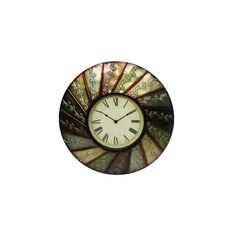 Home Source 400-28752-B Decorative Wall Clock, 24 by 2 by 24-Inch, Beige/Red/Grey *** Click on the image for additional details. (This is an affiliate link and I receive a commission for the sales)