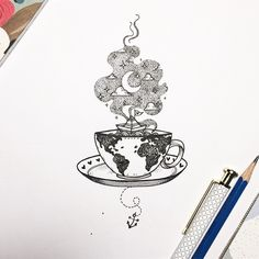 8 Wondrous Useful Tips: Keto Coffee Food coffee menu sketch. Tattoo On, Diy Tattoo, Body Art Tattoos, Coffee Cup Tattoo, Coffee Tattoos, Tattoo Sketches, Art Sketches, Teacup Tattoo, Beste Tattoo