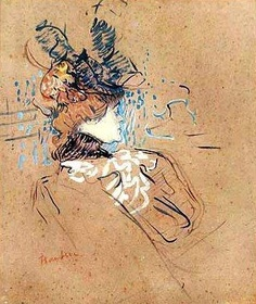 Toulouse-Lautrec, Moulin Rouge on paperboard