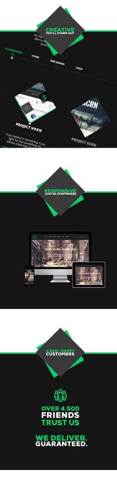 Site Templates - Teo - Responsive Parallax Single Page Portfolio   ThemeForest