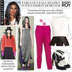 """""""Guest Editor Rachel Roy's Fabulous Fall Shades"""" by polyvore-editorial ❤ liked on Polyvore"""