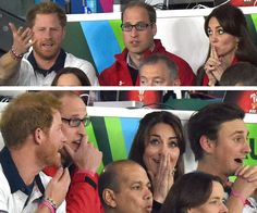 The royals have a spectacular time out and about:It looks Captain Wales isn't too happy with the ref, much to Duchess Catherine's amusement.