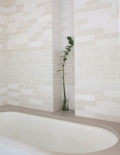Medium Plenty, Ian Read House, Guest Bath with Heath Ceramics Tiles | Remodelista