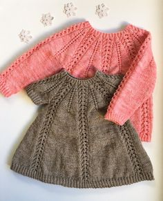 Seraphina Sweater and Dress pattern by Anne Dresow - Knitting patterns, knitting designs, knitting for beginners. Knitting For Kids, Baby Knitting Patterns, Crochet For Kids, Baby Patterns, Crochet Baby, Knit Crochet, Cardigan Bebe, Baby Cardigan, Knit Baby Dress