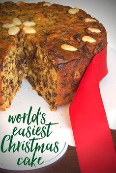 the world's easiest Christmas cake recipe