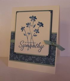 Sympathy Simplicity CASE by nancy littrell - Cards and Paper Crafts at Splitcoaststampers