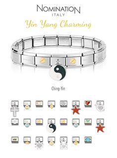 Yin Yang Charming Bracelet Charms, Bracelets, Nomination Bracelet, Yin Yang, Peace And Love, Charmed, Classic, Derby, Classic Books
