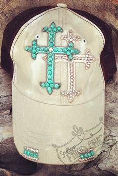 Designer Trucker Hat, Tea Stained with Double Crosses. I wish these hats weren't so expensive..