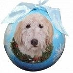 Goldendoodle Christmas Ball Ornament