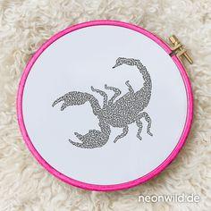 Endless-Ecostitch-Embroidery #EEE Stickdatei – Skorpion