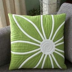 decorating pillows with bias applique strips