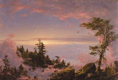 Frederic Edwin CHURCH (American painter, 1826-1900): Above the Clouds