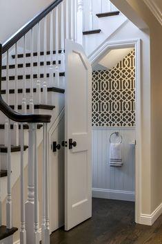 44 Unbelievable Storage Under Staircase Ideas Bewitching Your Staircase Look Clever Under Staircase Ideas, Storage Under Staircase, Stair Storage, Hidden Storage, Closet Storage, Bathroom Under Stairs, Small Bathroom, Toilet Under Stairs, Basement Bathroom