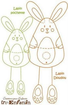 Easter Bunny Rabbit (pattern) - maybe construction paper for an easter craft?