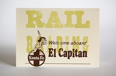 Railroading Bad Habits Series:  Letterpress Card Printed by LionOfBali