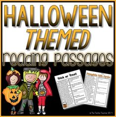 Halloween Themed Reading Passages and answer keys