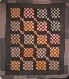 AMISH 36-PATCH and 4-PATCH ANTIQUE QUILT,