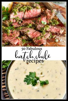 We scoured the internet to find you 50 of the most delicious and creative hatch chile recipes around! We scoured the internet to find you 50 of the most delicious and creative hatch chile recipes around! Hatch Green Chili Recipe, Green Chili Recipes, Hatch Chili, Hatch Chile Recipe, Low Carb Appetizers, Appetizer Recipes, Dinner Recipes, Appetizer Ideas, Soup Recipes