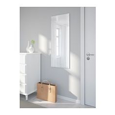 The mirror can be hung vertically or horizontally to suit your needs and space. Full-length mirror. Suitable for use in most rooms, and tested and approved for bathroom use. Safety film  reduces damage if glass is broken.