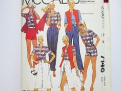 McCall's 7146  Retro Wardrobe Separates  Misses by AgnesLeRoux